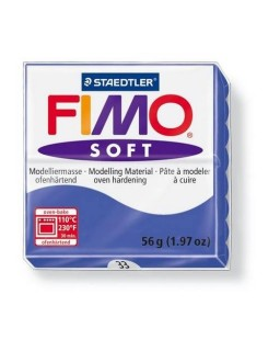 Fimo Soft 33 briliant blauw