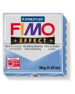 Fimo Effect  386 gemstone agaat blauw