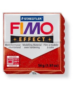 Fimo Effect 202 glitter rood