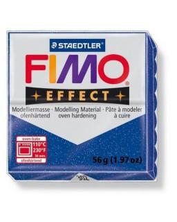 Fimo Effect 302 glitter blauw