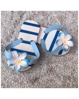 slippers blauw