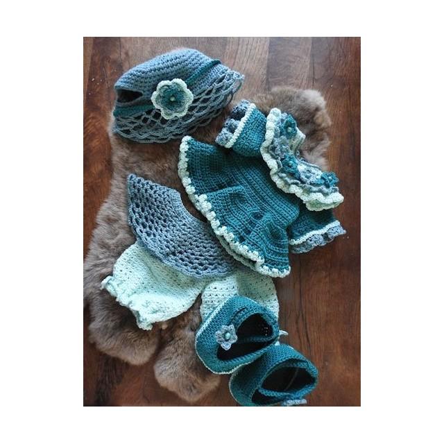 kledingset blauw-groen