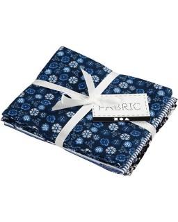 Patchwork stof 45x55 cm blauw