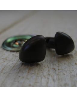 Veiligheidsneusjes Bruin 15mm