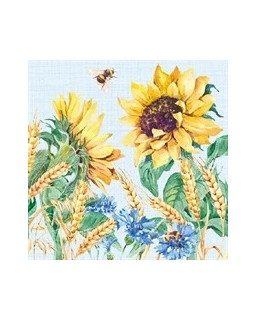 Sunflower and Wheat Blue