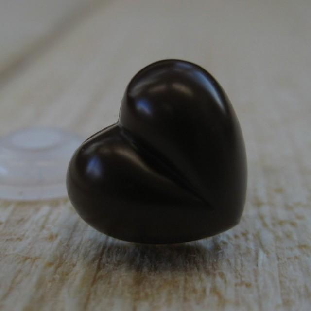 hartenneus zwart 18mm