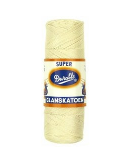 Durable glanskatoen nr 10 creme
