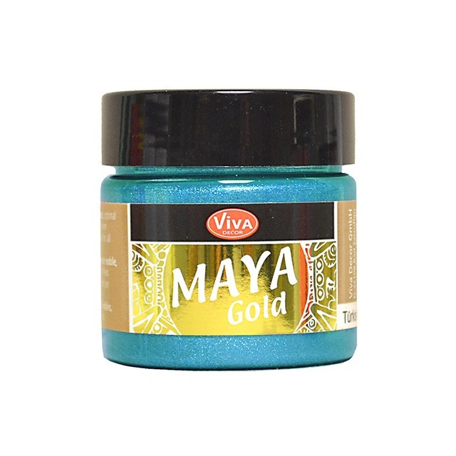 Maya-Gold Eisblau