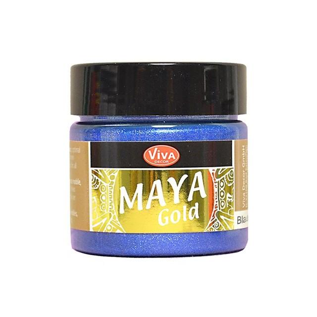 Maya-Gold Blau