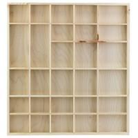 houten letterbak 28 vaks