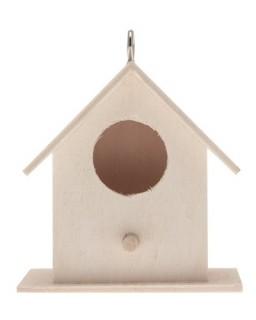 houten mini vogelhuisje