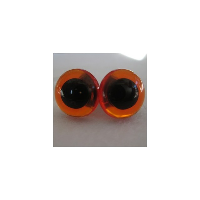 veiligheidsoogjes 18mm amber