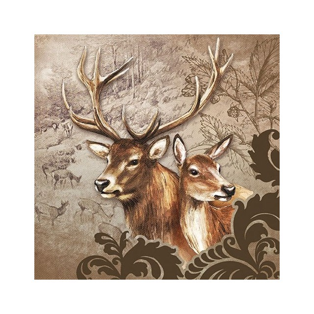 Deer Couple Brown