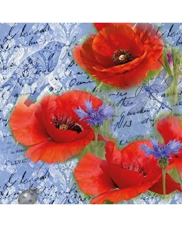 Painted Poppies Blue