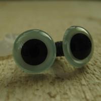 veiligheidsoogjes 13.5 mm parelblauw
