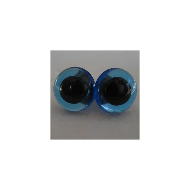 veiligheidsoogjes 24mm blauw transparant