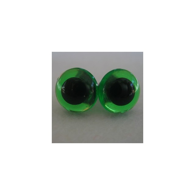 Veiligheidsogen 24mm Groen transparant