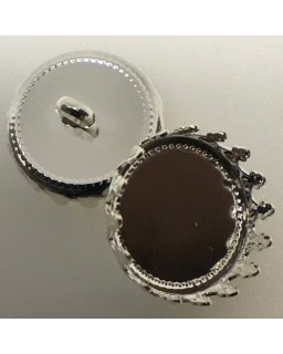 knoopje silver plated