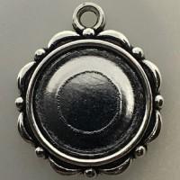 Hangertje 001 antique silver 2 st.