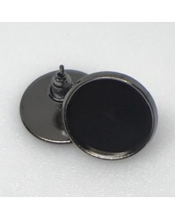 Oorsteker Black Nickel Plated