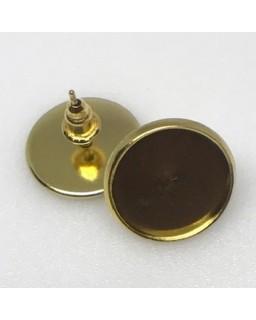 Oorsteker Antique Gold Plated