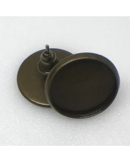 Oorsteker Antique Bronze Plated