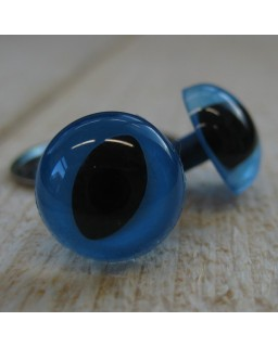 Kattenogen 18 mm Blauw