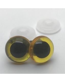 Veiligheidsoogjes 6mm Geel transparant