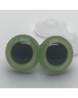 Veiligheidsoogjes 8mm Parelgroen