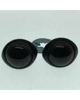 Ogen Donkerbruin 16mm