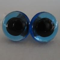 veiligheidsoogjes 8mm blauw transparant