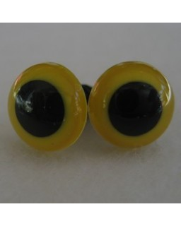 veiligheidsoogjes 8mm geel