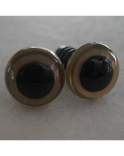 veiligheidsoogjes 8mm goud