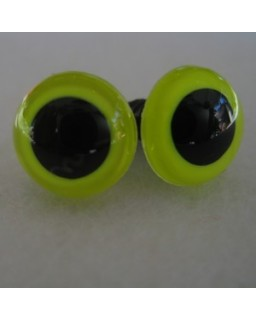 veiligheidsoogjes 8mm lemon
