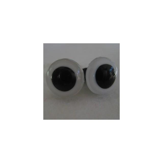 veiligheidsoogjes 8mm wit