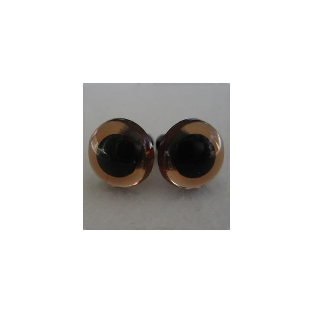 veiligheidsoogjes 12mm bruin transparant