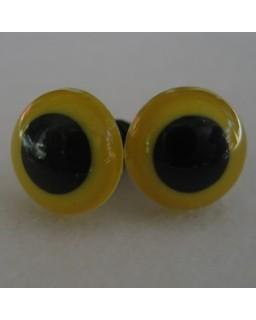 veiligheidsoogjes 12mm geel