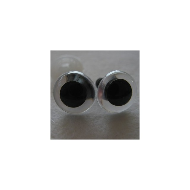veiligheidsoogjes 12mm kristal