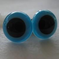 veiligheidsoogjes 12mm turquoise