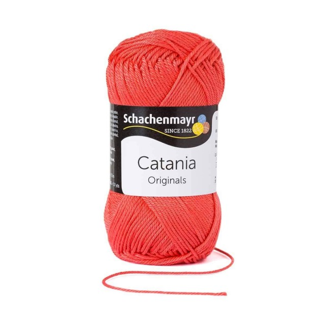 Catania katoen 252 Dark Coral