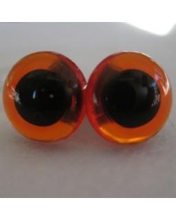 Veiligheidsoogjes 13,5mm Amber