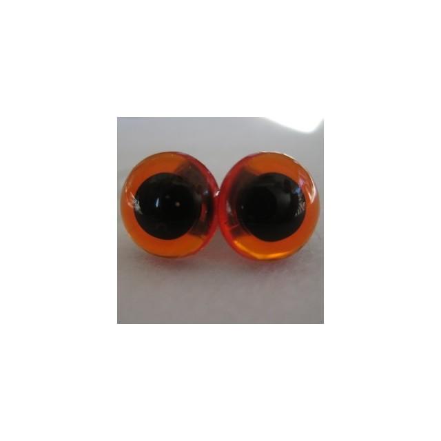 veiligheidsoogjes 13.5mm amber