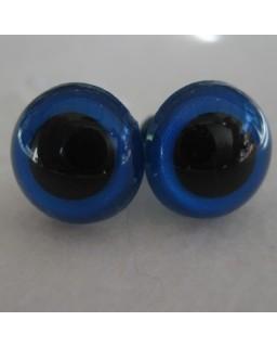 veiligheidsoogjes 13.5mm blauw