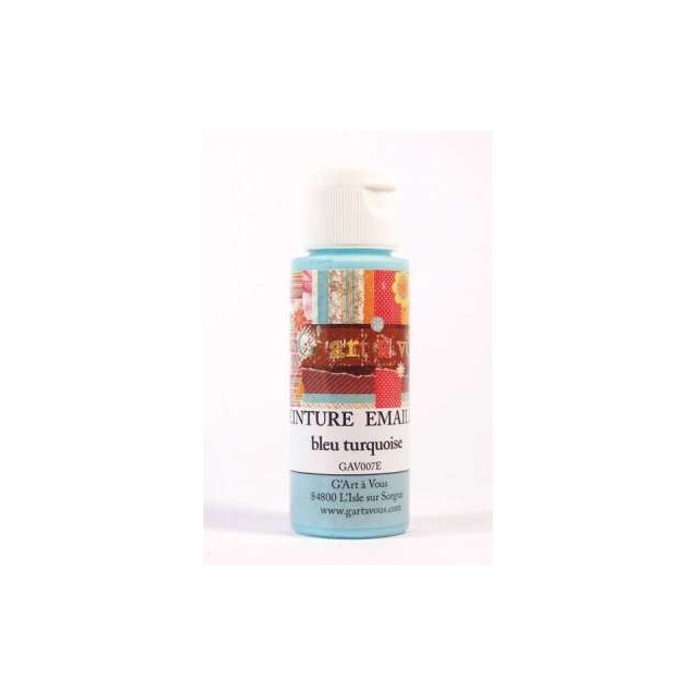 Acryl emaille glasverf turquoise