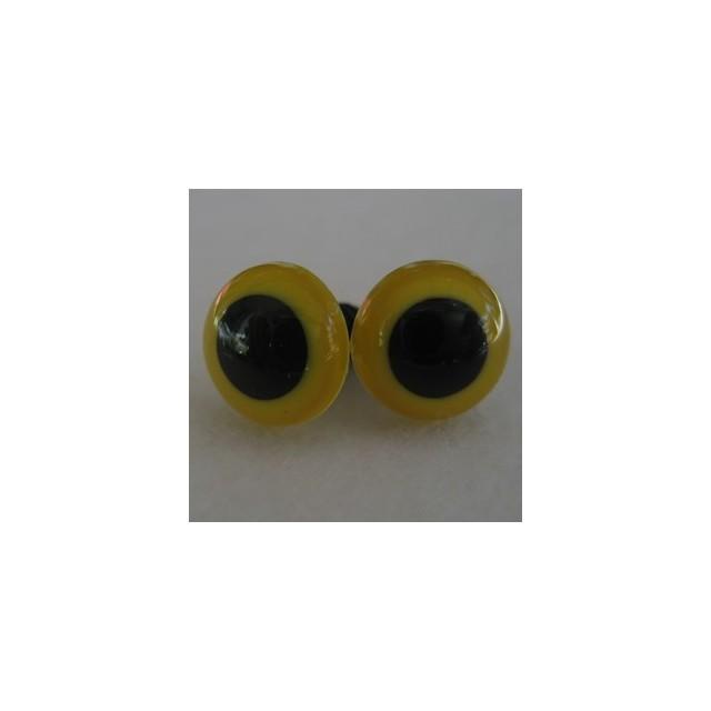 veiligheidsoogjes 13.5mm geel