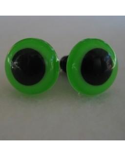 Veiligheidsoogjes 13,5mm Groen