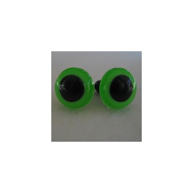 veiligheidsoogjes 13.5mm groen
