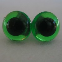 veiligheidsoogjes 13.5 mm groen transparant