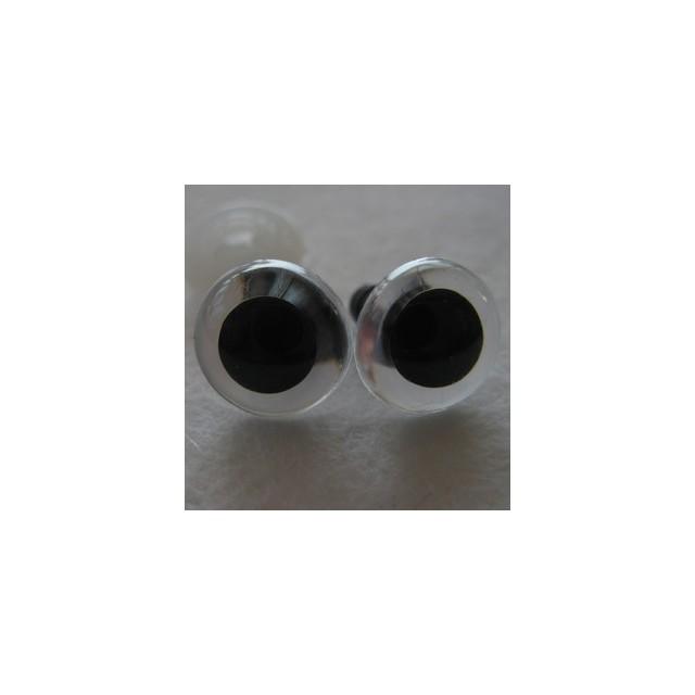 veiligheidsoogjes 13.5mm kristal