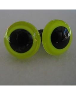 veiligheidsoogjes 13.5 mm lemon